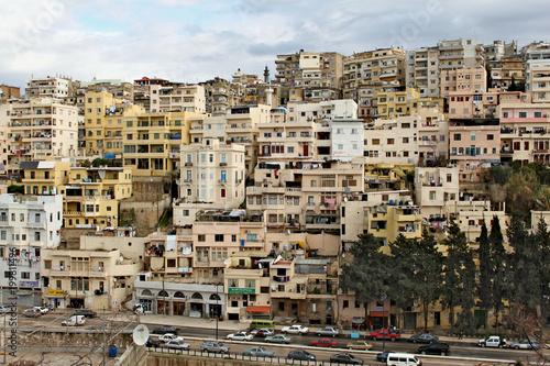 Street in Tripoli city in Lebanon