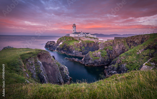 Photo Fanad Head Lighthouse al tramonto Donegal Ireland