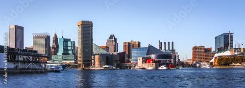 Canvastavla Baltimore Downtown Skyline Panorama