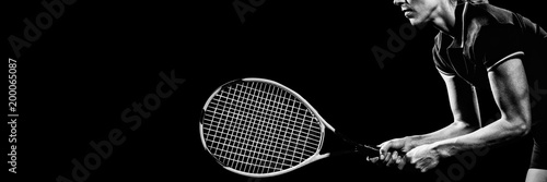 Obraz na płótnie Tennis player playing tennis with a racket