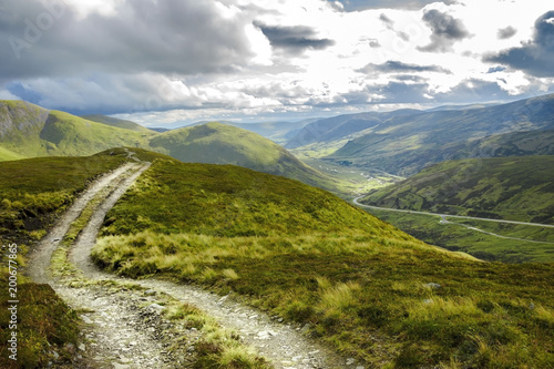 Scottish rural landscape in Cairngorm Mountains Poster Mural XXL