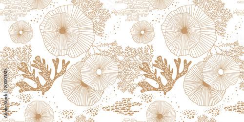 Foto Hand drawn seamless vector pattern