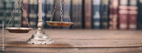 Obraz na płótnie Waga sprawiedliwości i prawa