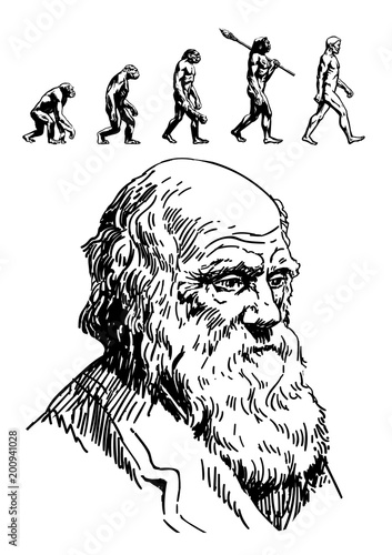 Fotografija Portrait of Charles Darwin