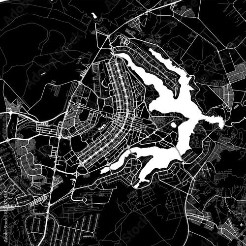 Area map of Brasília, Brazil Fototapeta