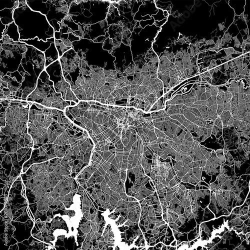 Obraz na plátně Area map of São Paulo, Brazil