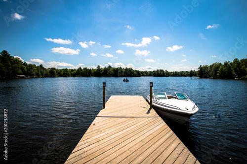 Fotografie, Tablou Lake Dock with Boat