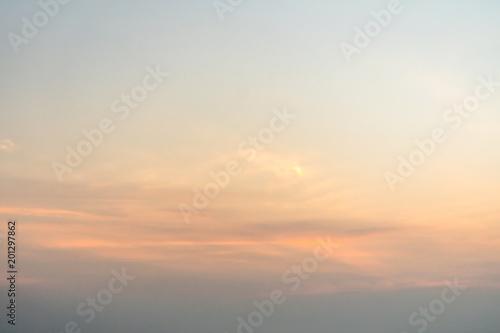 Fototapeta Beautiful blue the sky during dawn