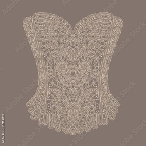 Foto Vintage beige lace corset