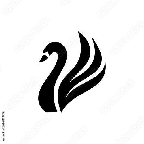 Fototapeta premium swan logo vector