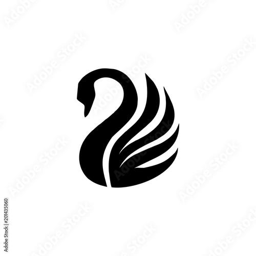 Fototapeta premium wektor logo łabędź