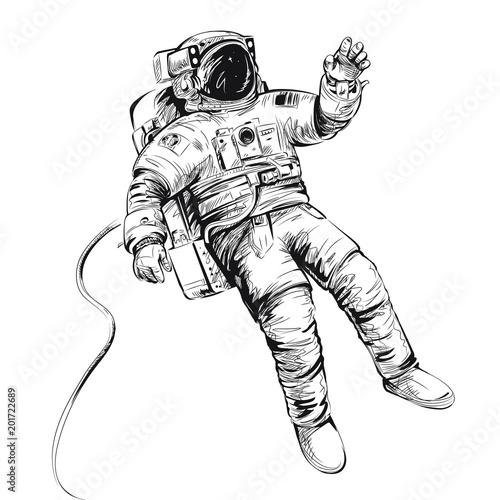 Billede på lærred Cosmonaut or astronaut in spacesuit