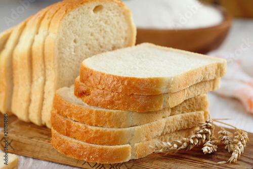 Valokuva Sliced white bread