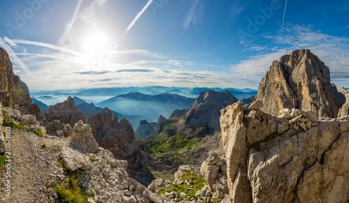 Photo Spectacular mountain panorama.