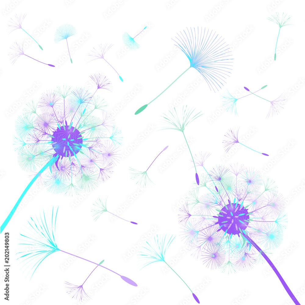 Abstrakcjonistyczny tło dandelion dla projekta. <span>plik: #202149803 | autor: niko180180</span>