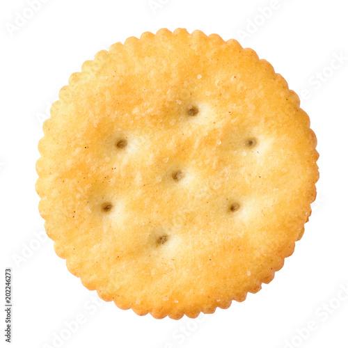 Vászonkép round cracker isolated on white background