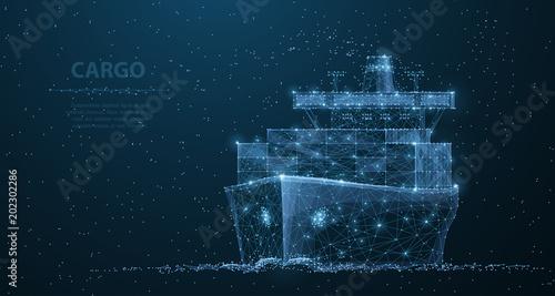 Obraz na plátně Worldwide cargo ship