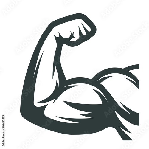 Fotografie, Tablou Muscle arms. Biceps