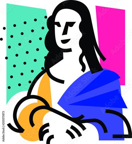 Fotografie, Tablou Illustration of the Mona Lisa