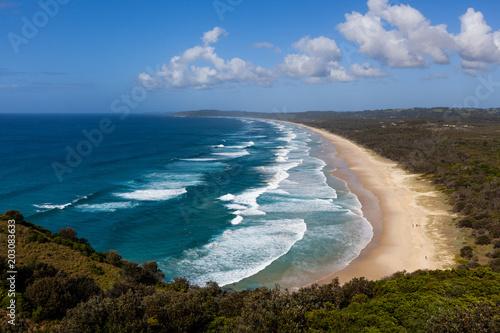 Leinwand Poster Tallow Beach in Byron Bay, New South Wales, Australia