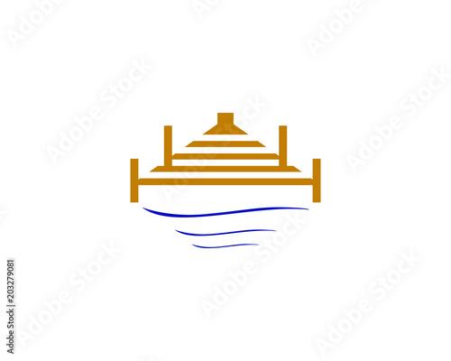 Murais de parede dock logo