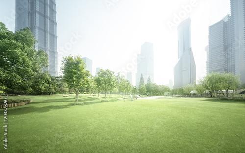 park in lujiazui financial center, Shanghai, China
