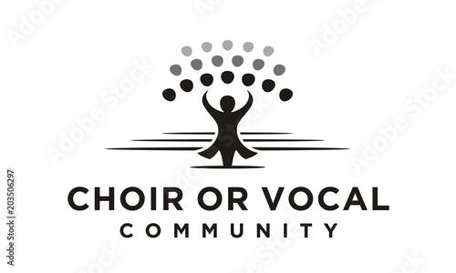 Tela Classical Choir Chorus Vocal group perform led by a conductor, Christian Church