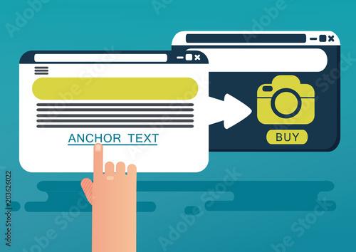 Fotografia Anchor text concept. Vector illustration