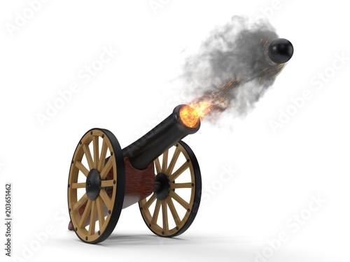 Fotografie, Obraz ramadan cannons shot moment. 3d illustration