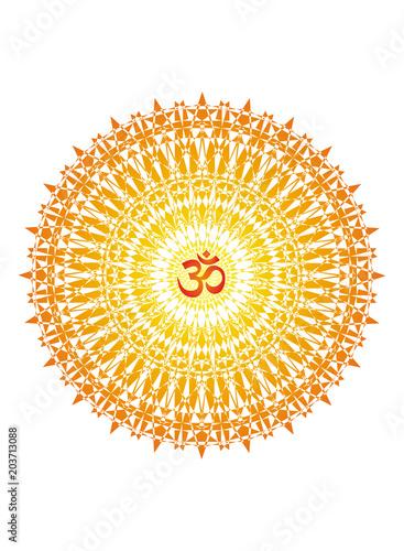 Εκτύπωση καμβά Mandala with the aum sign
