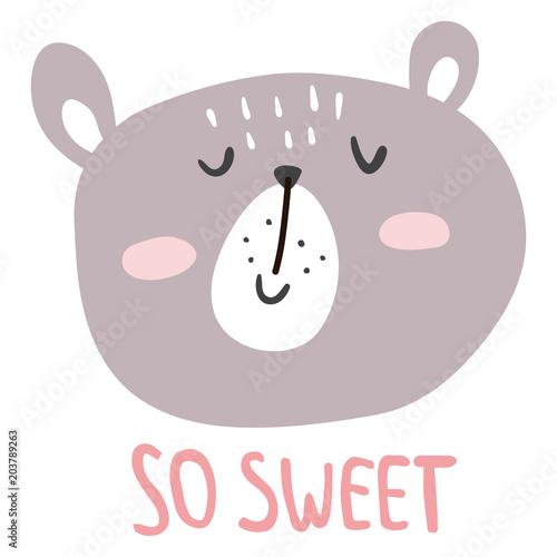 sweet bear Poster Mural XXL