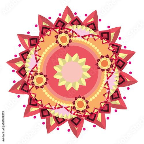 Obraz na plátně ornament mandala abstract decoration style