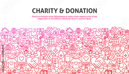 Fotografering Charity and Donation Concept