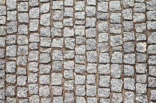 Fotografía Top view of an old cobblestone street