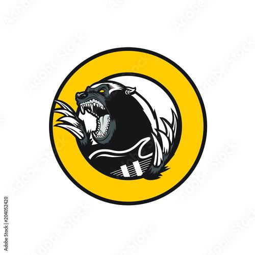 honey badger pun rock clip art Fototapet