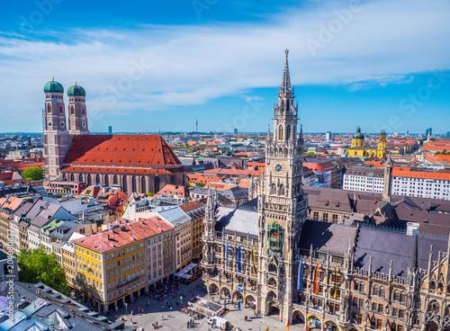 Fototapeta premium Panorama centrum Monachium