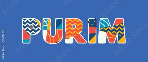 Photo Purim Concept Word Art Illustration