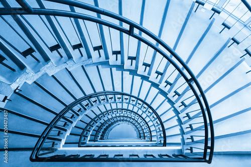Stampa su Tela spiral staircase closeup