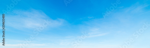 Blue sky in the springtime