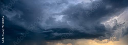 approaching storm cloud