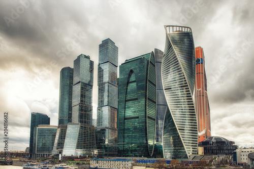 Εκτύπωση καμβά Business center Moscow City