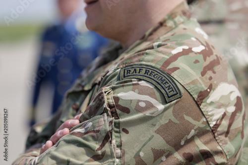 Fotografie, Obraz Royal Air Force symbol on a British soldier uniform
