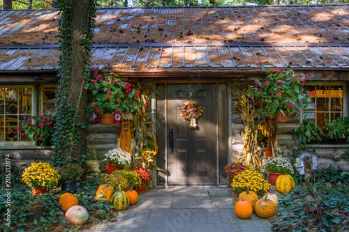 Slika na platnu Thanksgiving Display on Country Door