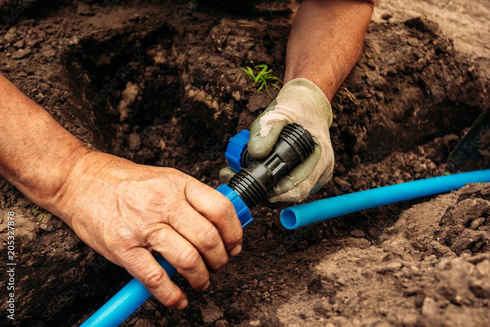Drainage system connection for garden irrigation <span>plik: #205327878 | autor: Zayne C.</span>