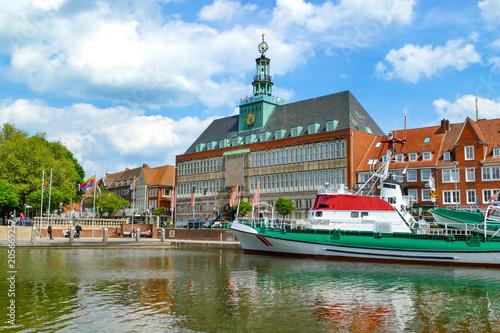 Canvastavla Emden, Hafen, Ostfriesland