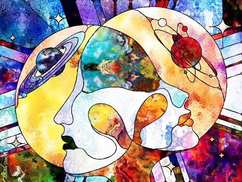 Canvas Print Our Universes