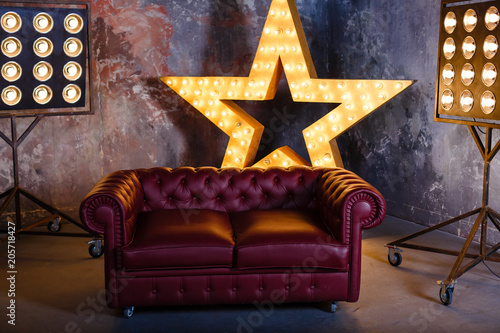 sofa star lamp Fototapet