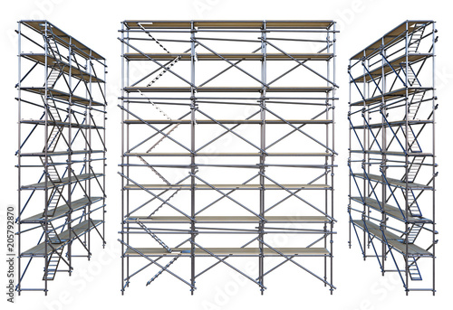 Canvas Print scaffolding isolated on white