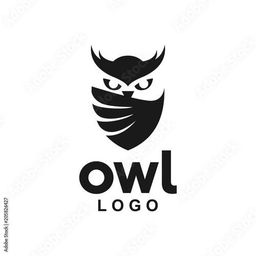 Fototapeta premium Sowa Logo ikona skrzydło tarczy kreatywny nowoczesny design