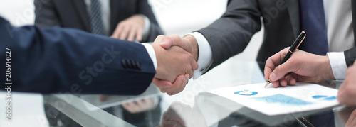 close up.handshake of business partners